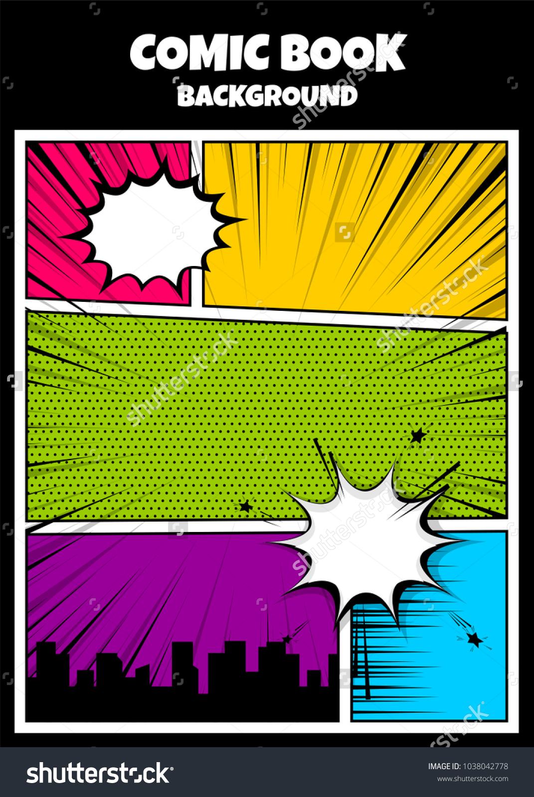 Pop Art Comics Book Magazine Cover Stock Vector Royalty Free