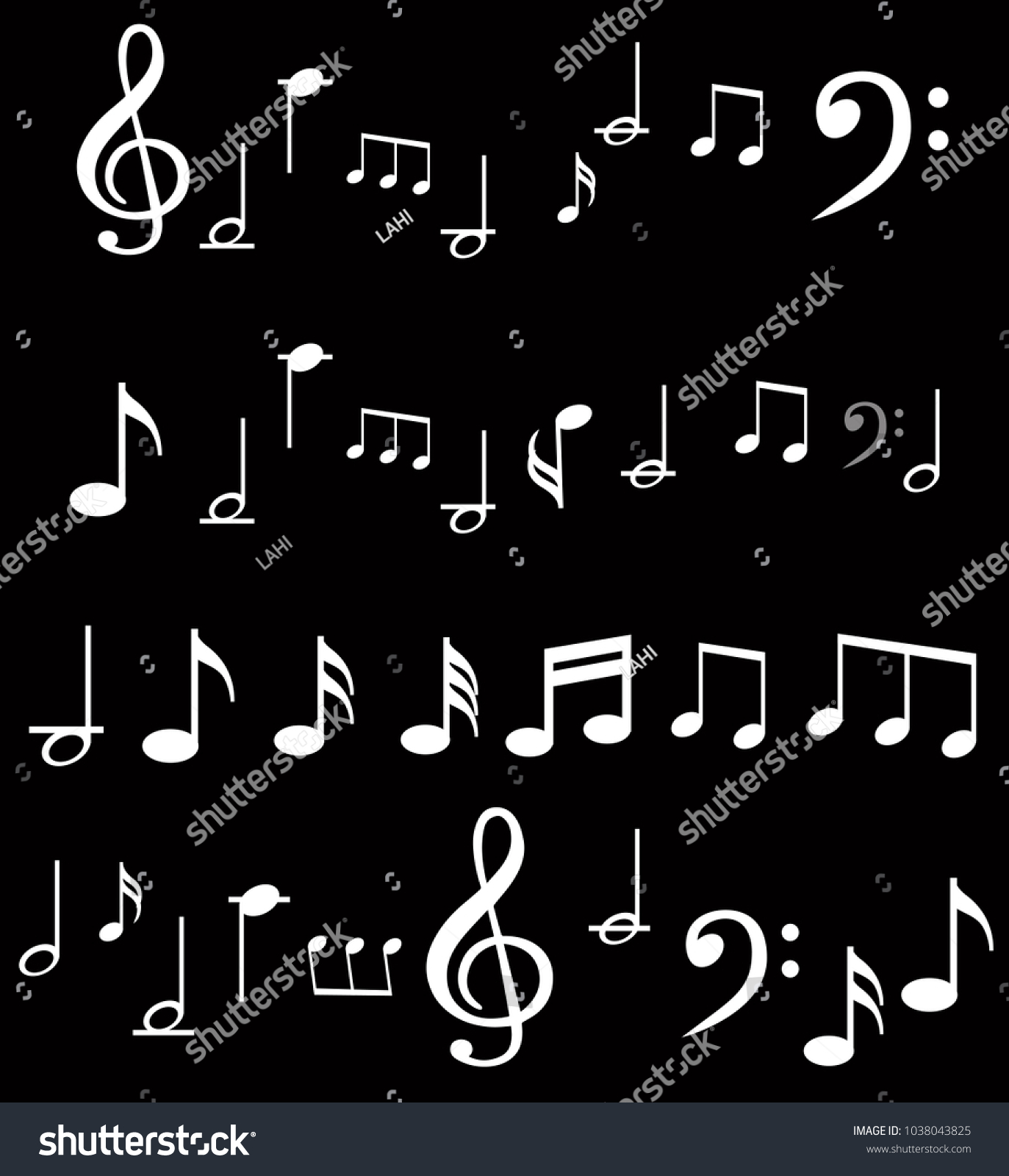 Music Note Background With Music Symbol Icons Ez Canvas