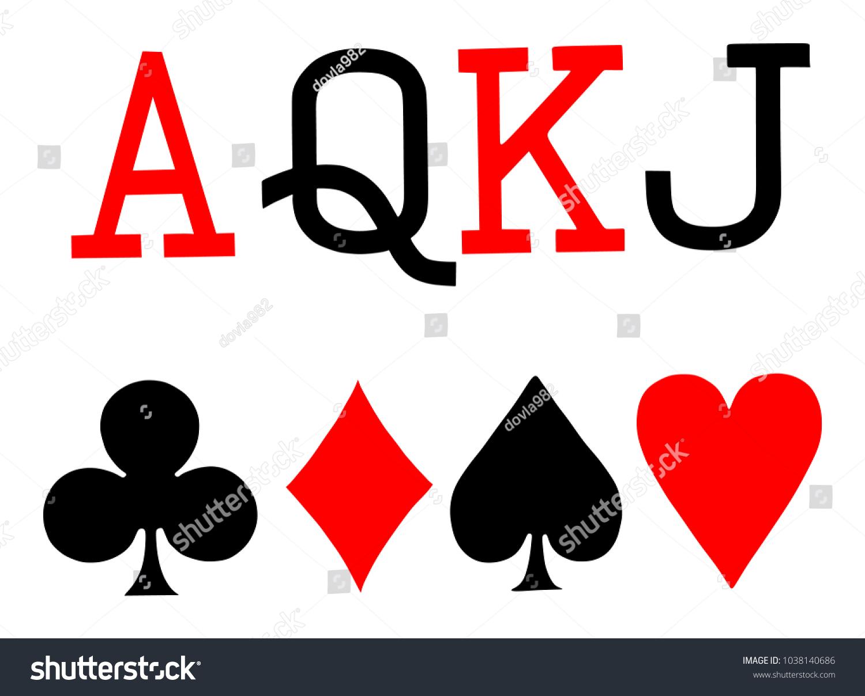 Set playing card symbols vector on stock vector 1038140686 set of playing card symbols vector on white background spade heart club biocorpaavc