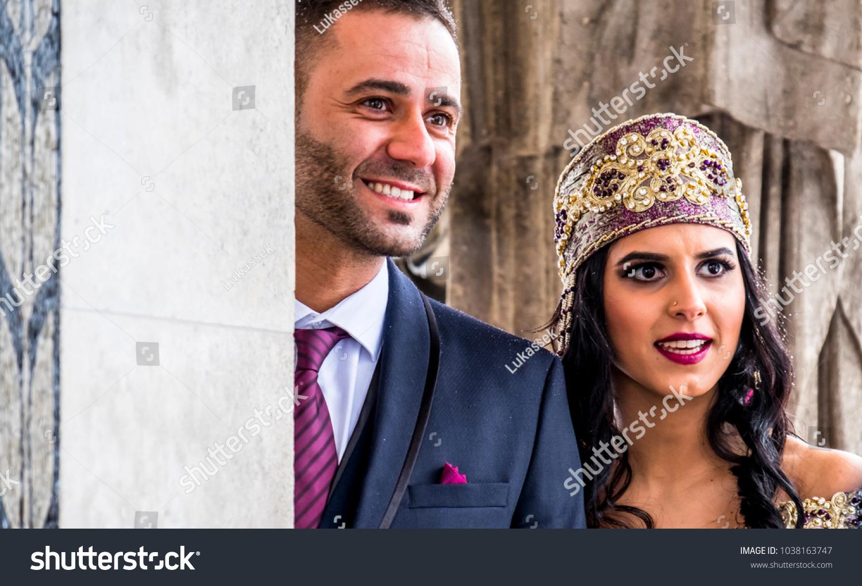 Happy Couple Traditional Turkish Wedding Dress Stock Photo (Royalty ...