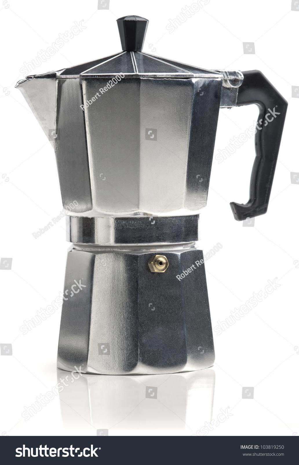Italian Coffee Maker Vector : Italian Coffee Maker Isolated On White Stock Photo 103819250 - Shutterstock