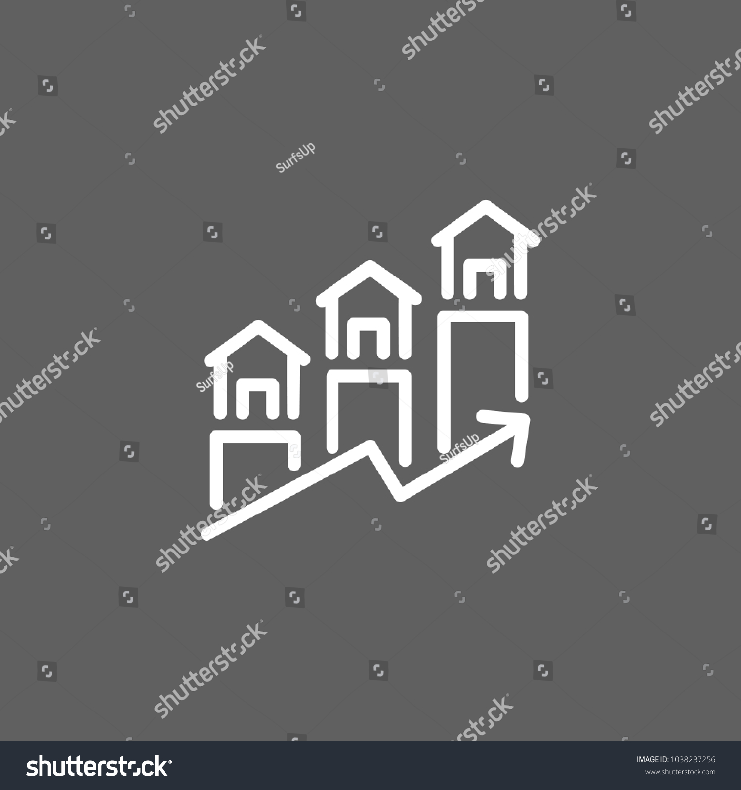 Icon Real Estate Forecast Mortgage Price Stock Vector Royalty Free 1038237256