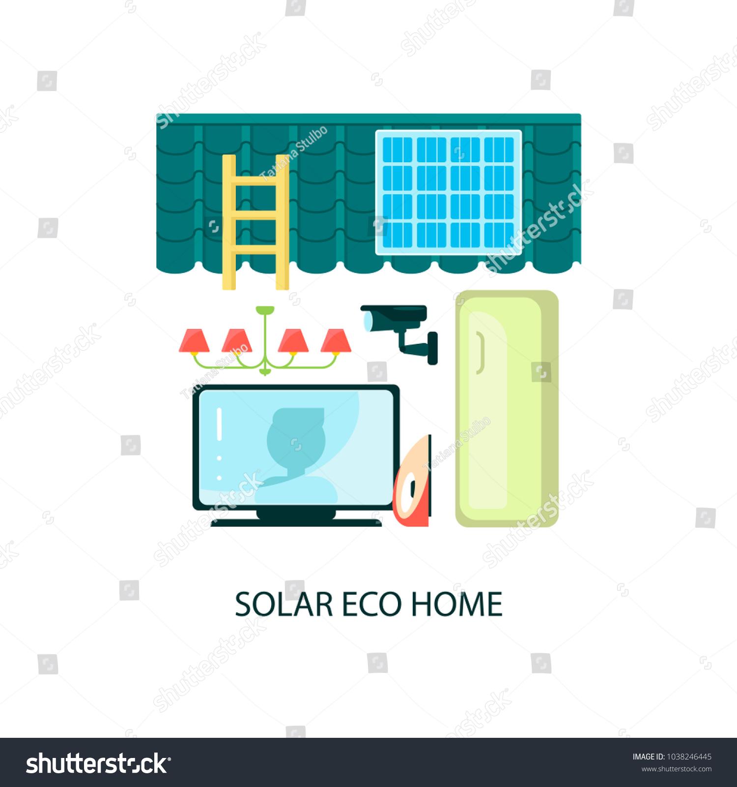 Modern Eco Technologies City Solar Energy Stock Vector HD (Royalty ...