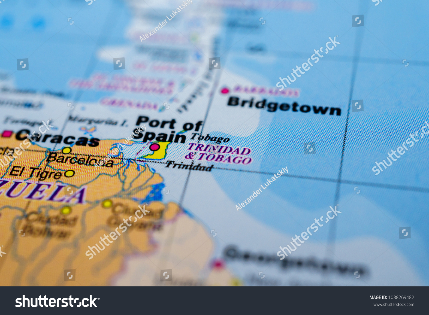 Picture of: Trinidad Tobago On Map Backgrounds Textures Stock Image 1038269482