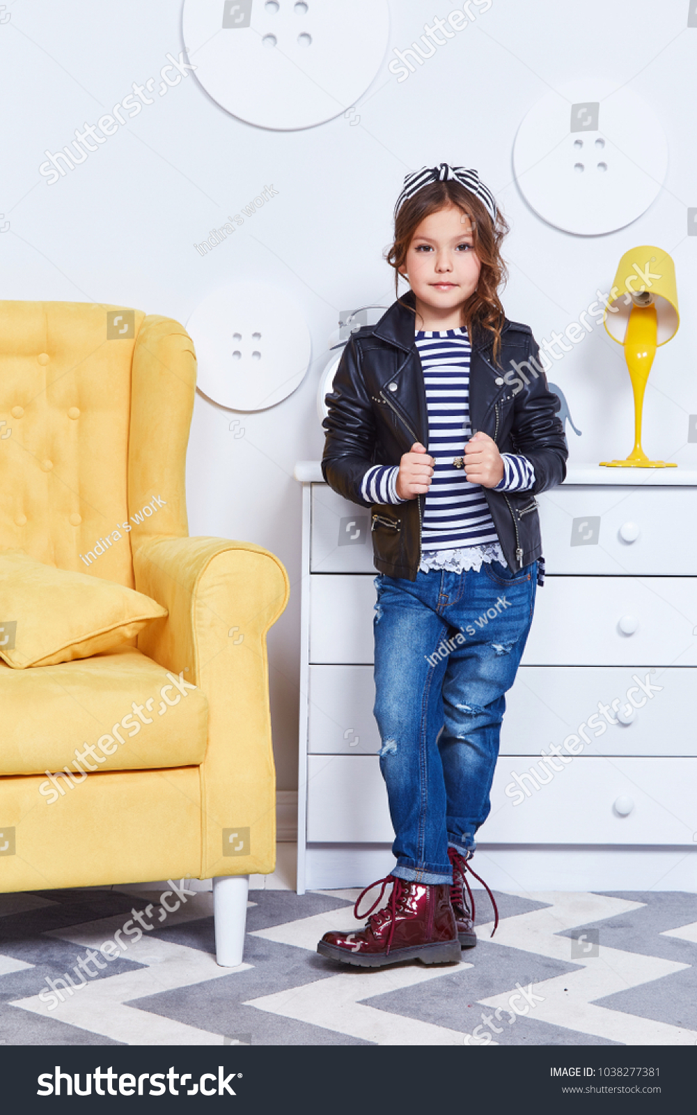 b3d862eee15b Fashion Style Clothes Child Small Little Stock Photo (Edit Now ...