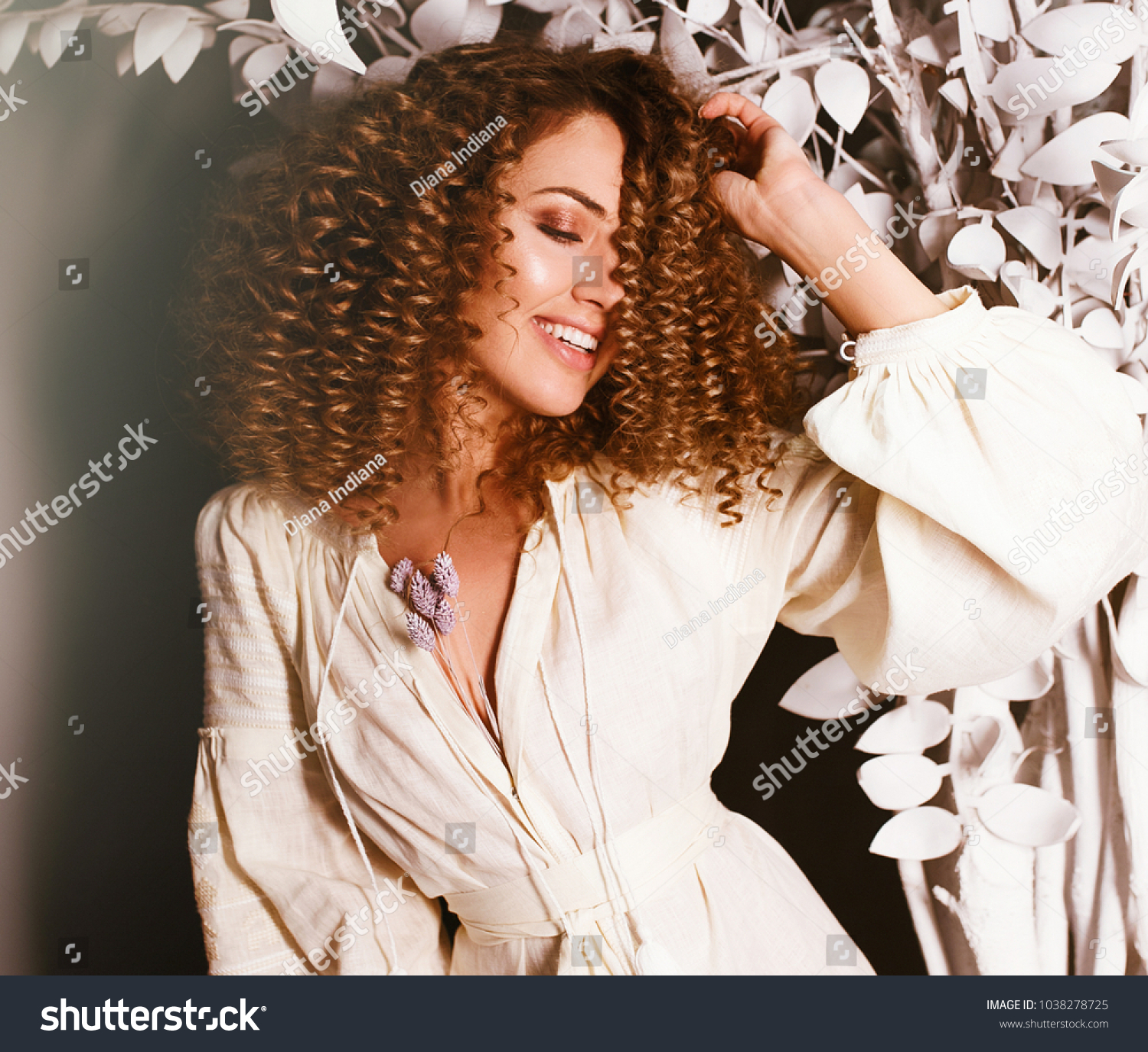 adfef8c58 Fantasy Girl Long Blonde Blowing Curly Stock Photo (Edit Now ...