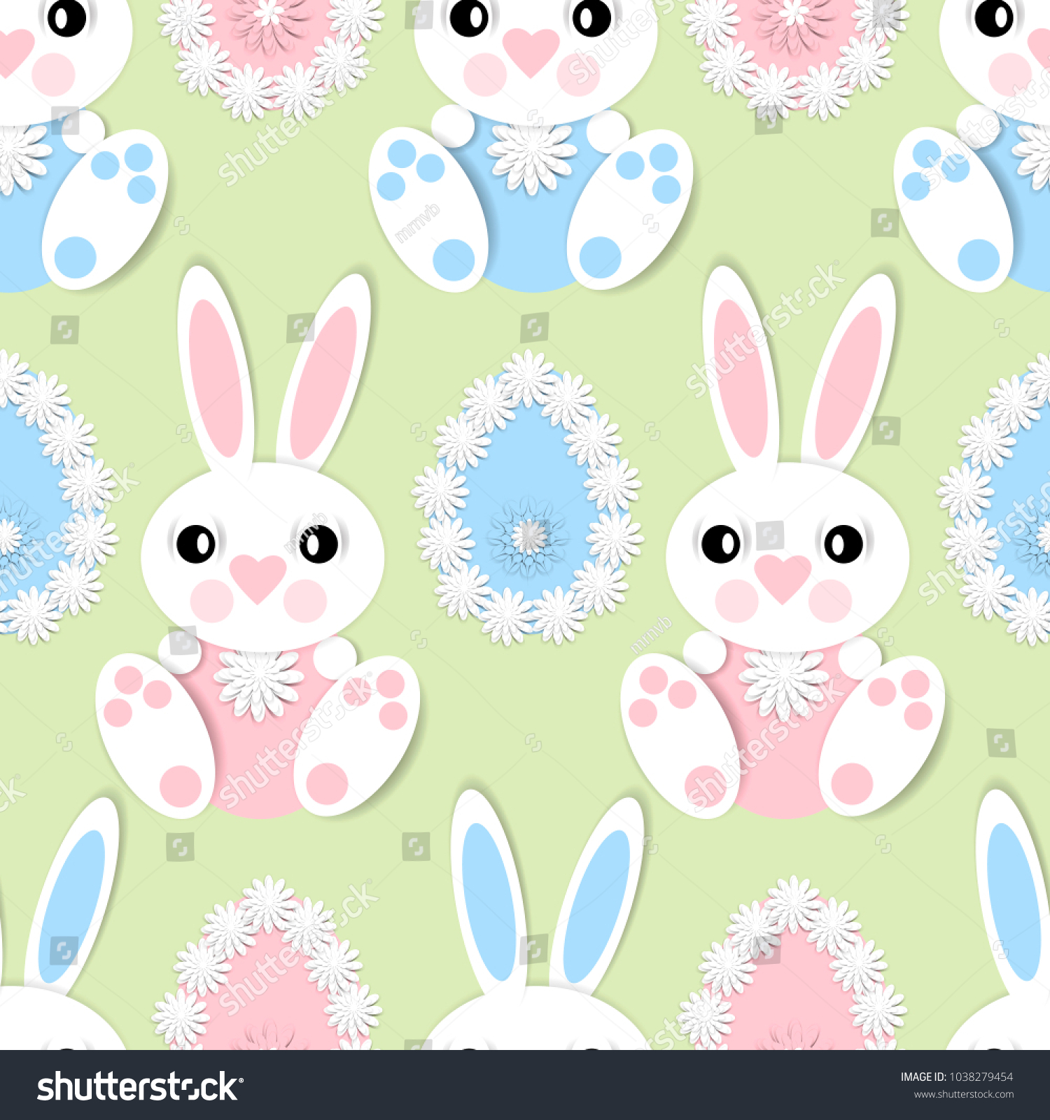 Happy easter seamless pattern 3 d paper stock vector 1038279454 happy easter seamless pattern 3 d paper stock vector 1038279454 shutterstock negle Choice Image