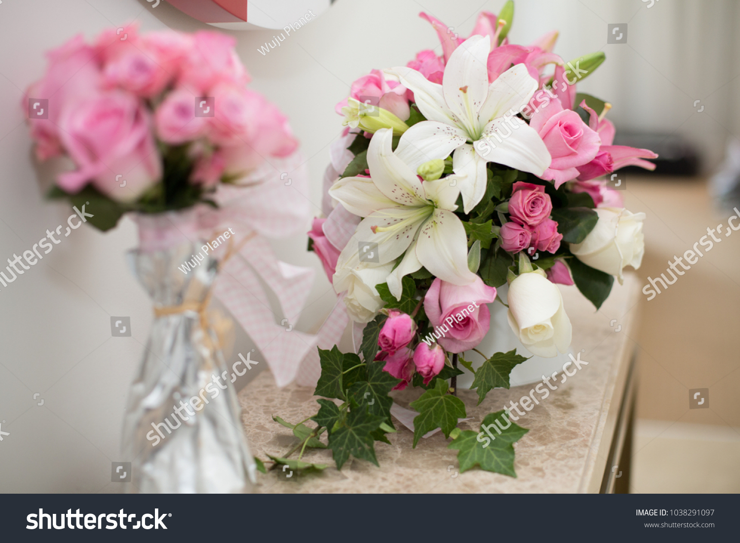 Romantic flower decoration in an hotel room for a couple in love id 1038291097 izmirmasajfo