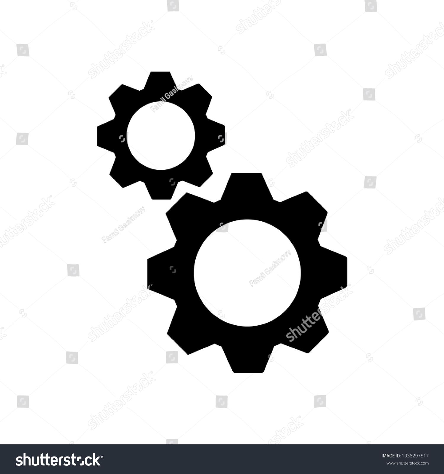 Gearcog Icon Coghwheelseo Vector Engineengineering Symbol Stock