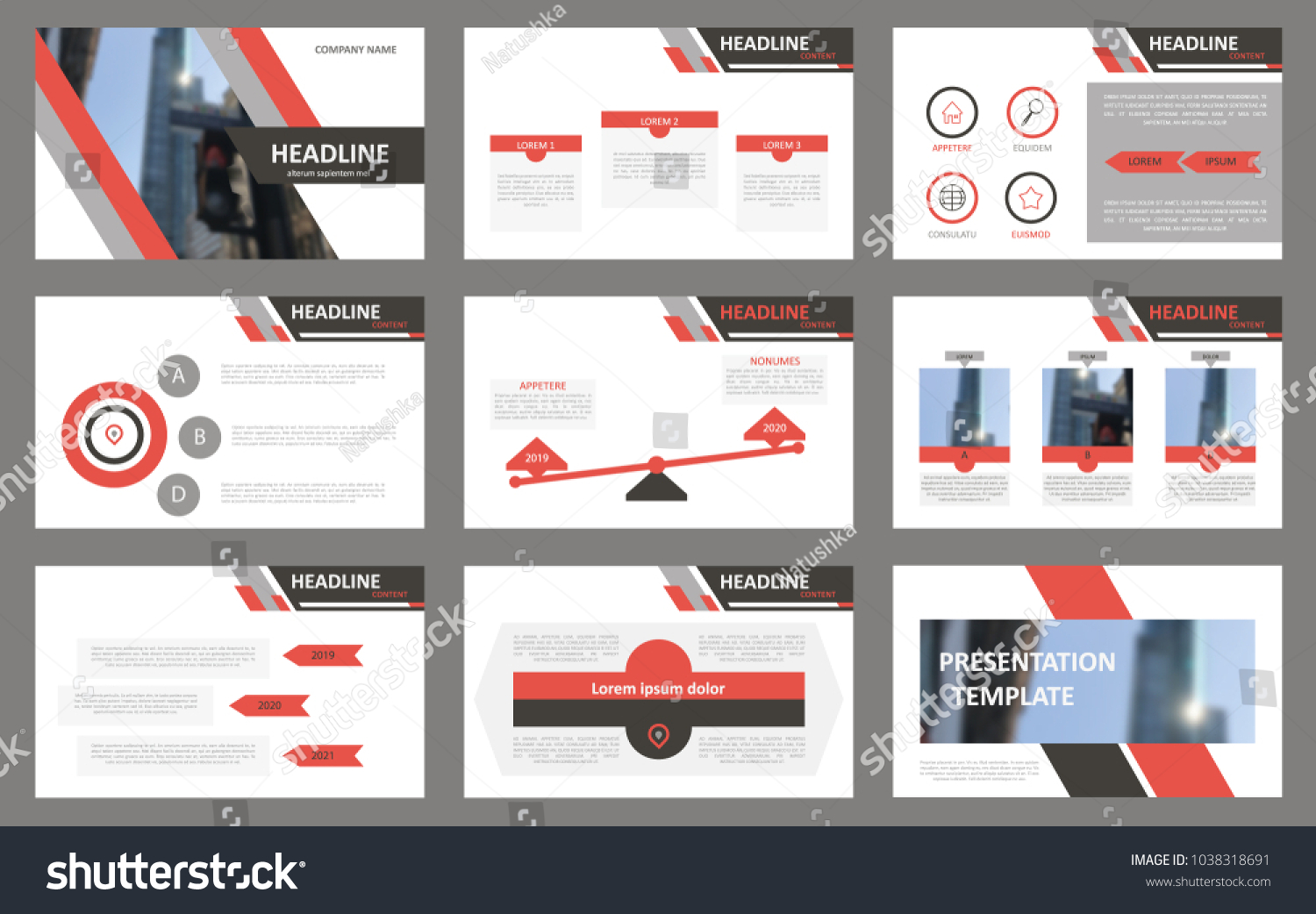 slides modern presentation template abstract infographic のベクター