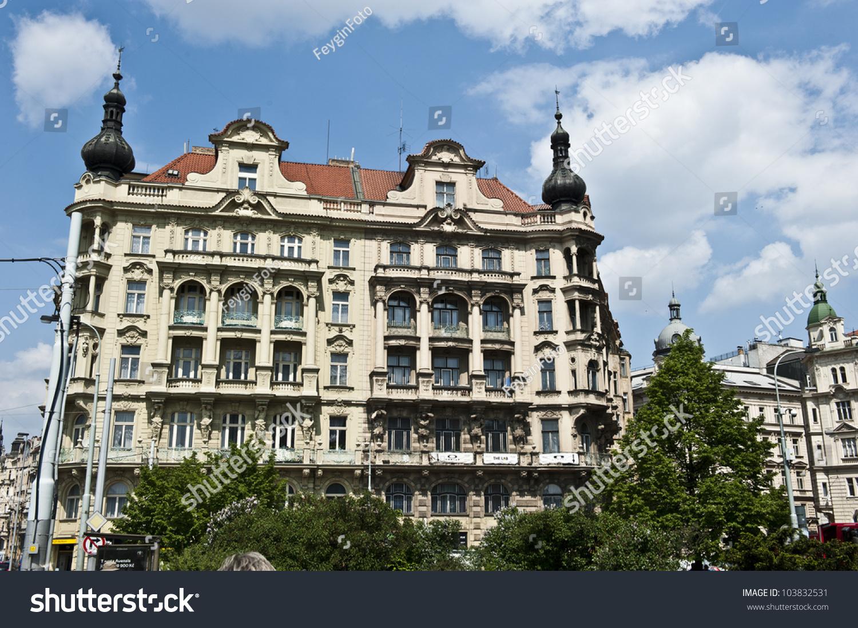 A classical prague architecture located down jiraskovo for Prague location