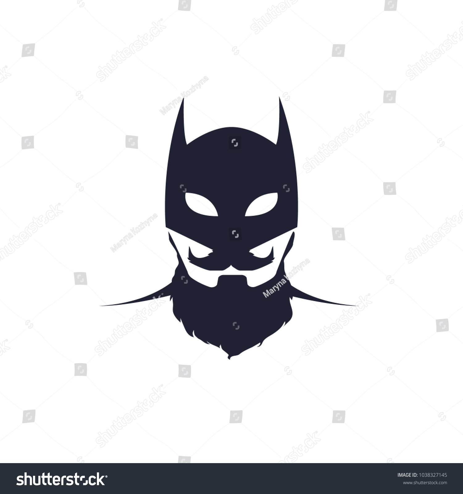 batman black mask logo halloween mask stock vector (royalty free