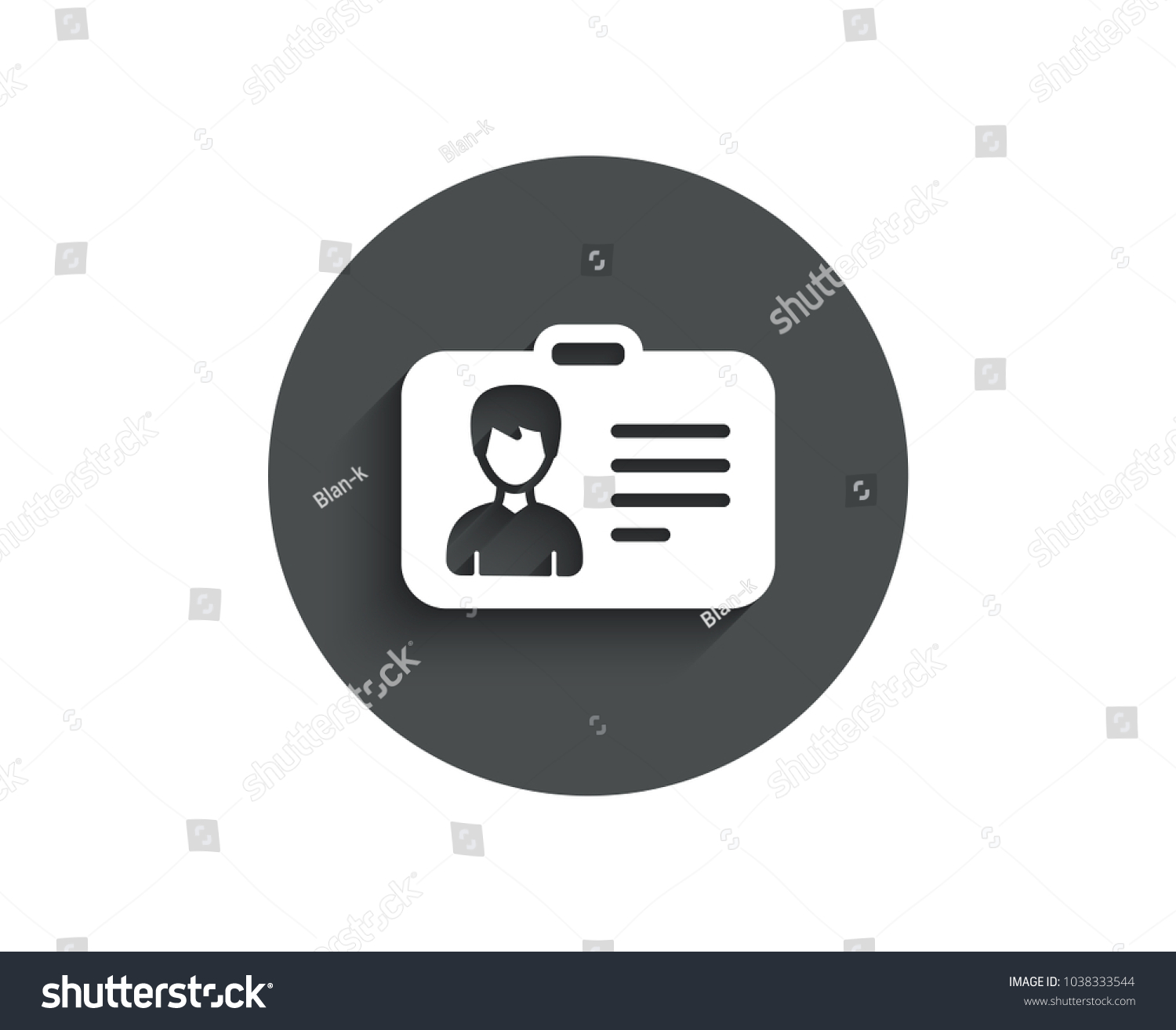 Id Card Simple Icon User Profile Stock Vector Royalty Free