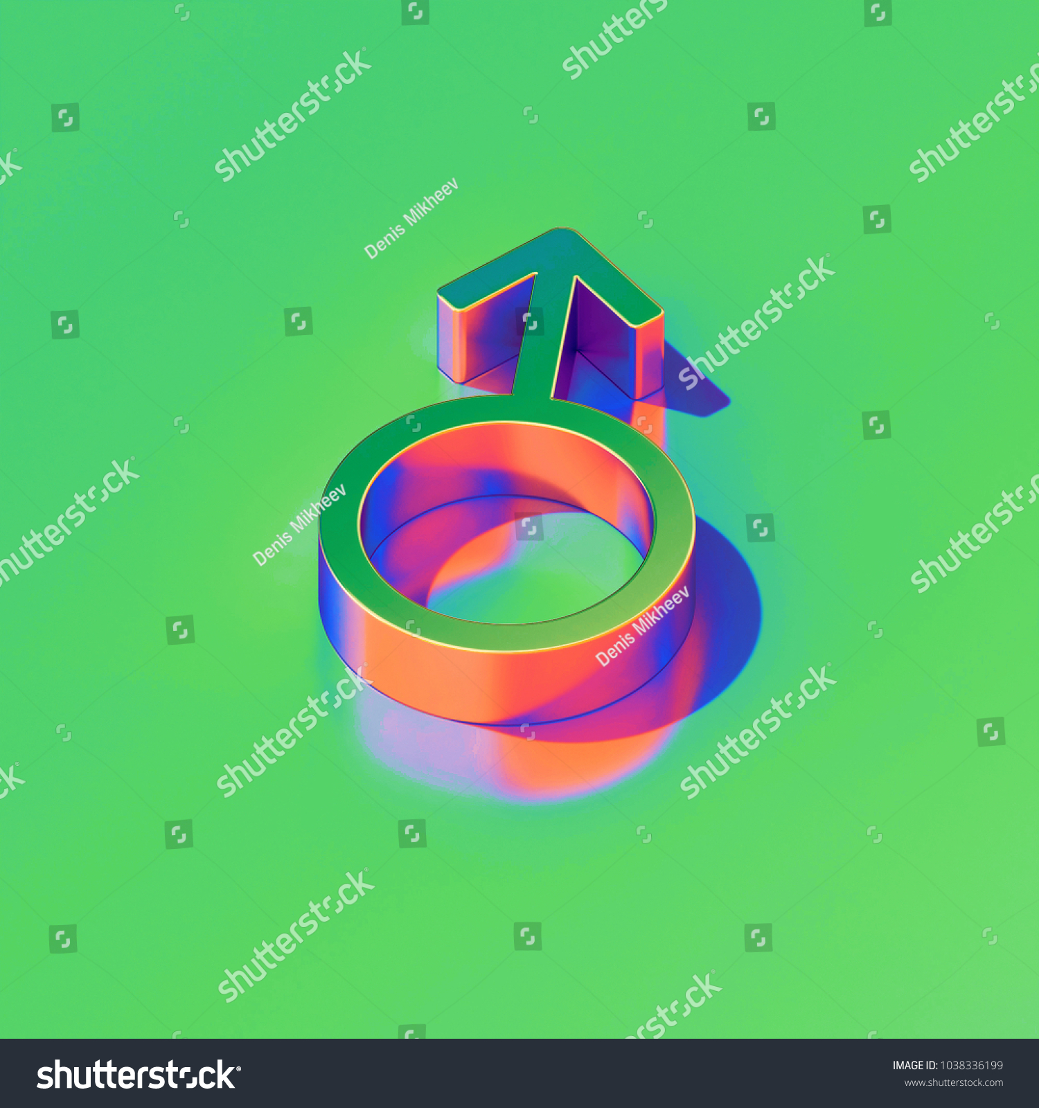 Metallic gender mars icon on candy stock illustration 1038336199 metallic gender mars icon on candy style green background 3d illustration of man male buycottarizona Gallery