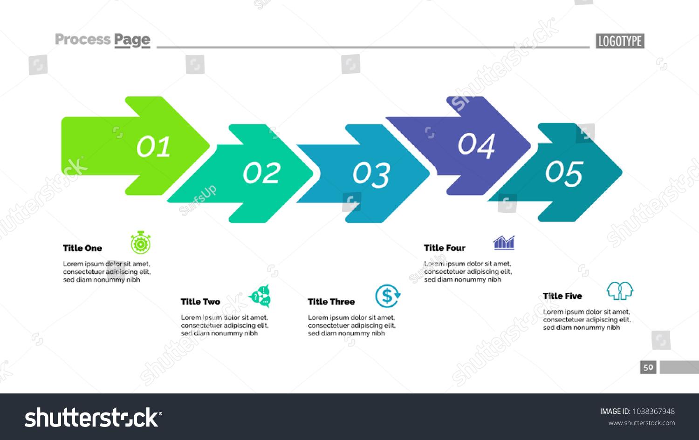 Five Steps Arrow Chart Process Diagram Stock Vector (Royalty Free ...