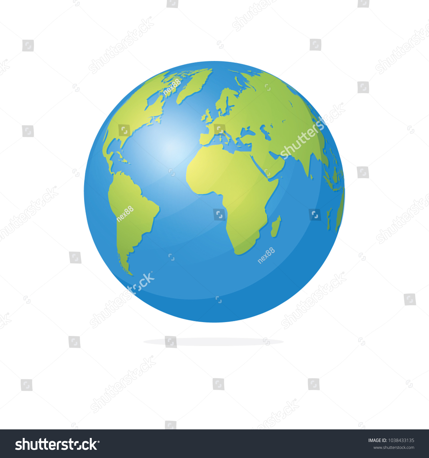 World map globe vector illustration vector de stock1038433135 world map and globe vector illustration gumiabroncs Images