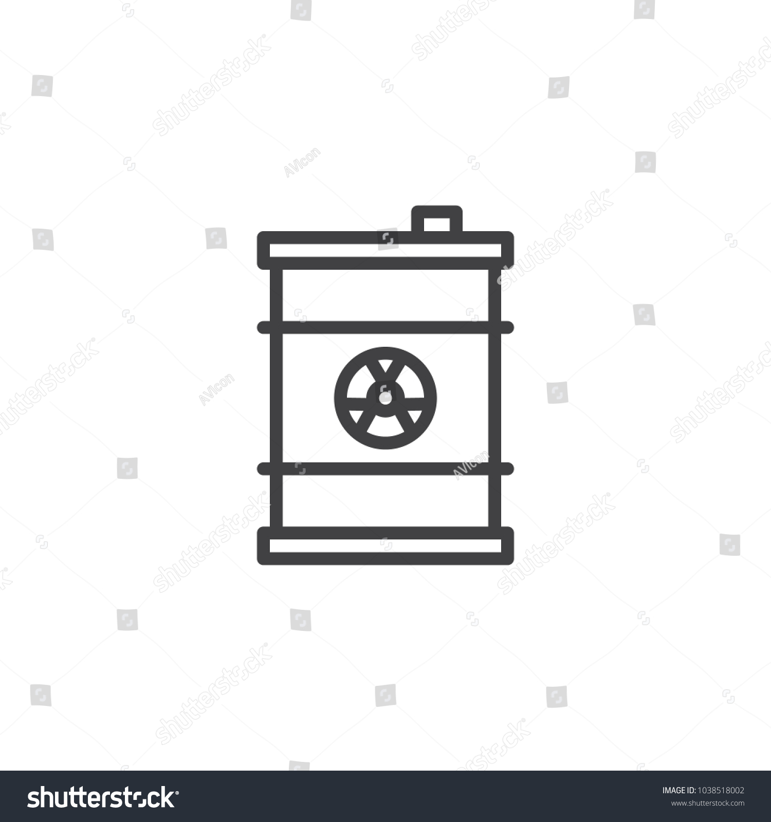 Toxic symbol black vector icon network equipment list critical stock vector 1038518002 stock vector waste barrel outline icon linear style sign for mobile concept and web design nuclear toxic 1038518002 waste barrel biocorpaavc Images