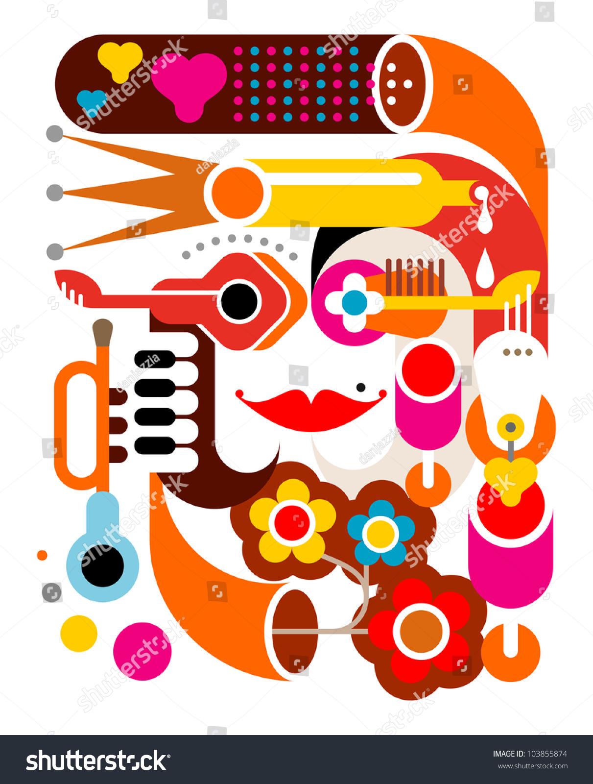 Summer Music Abstract Vector Illustration On Stock Vector ...