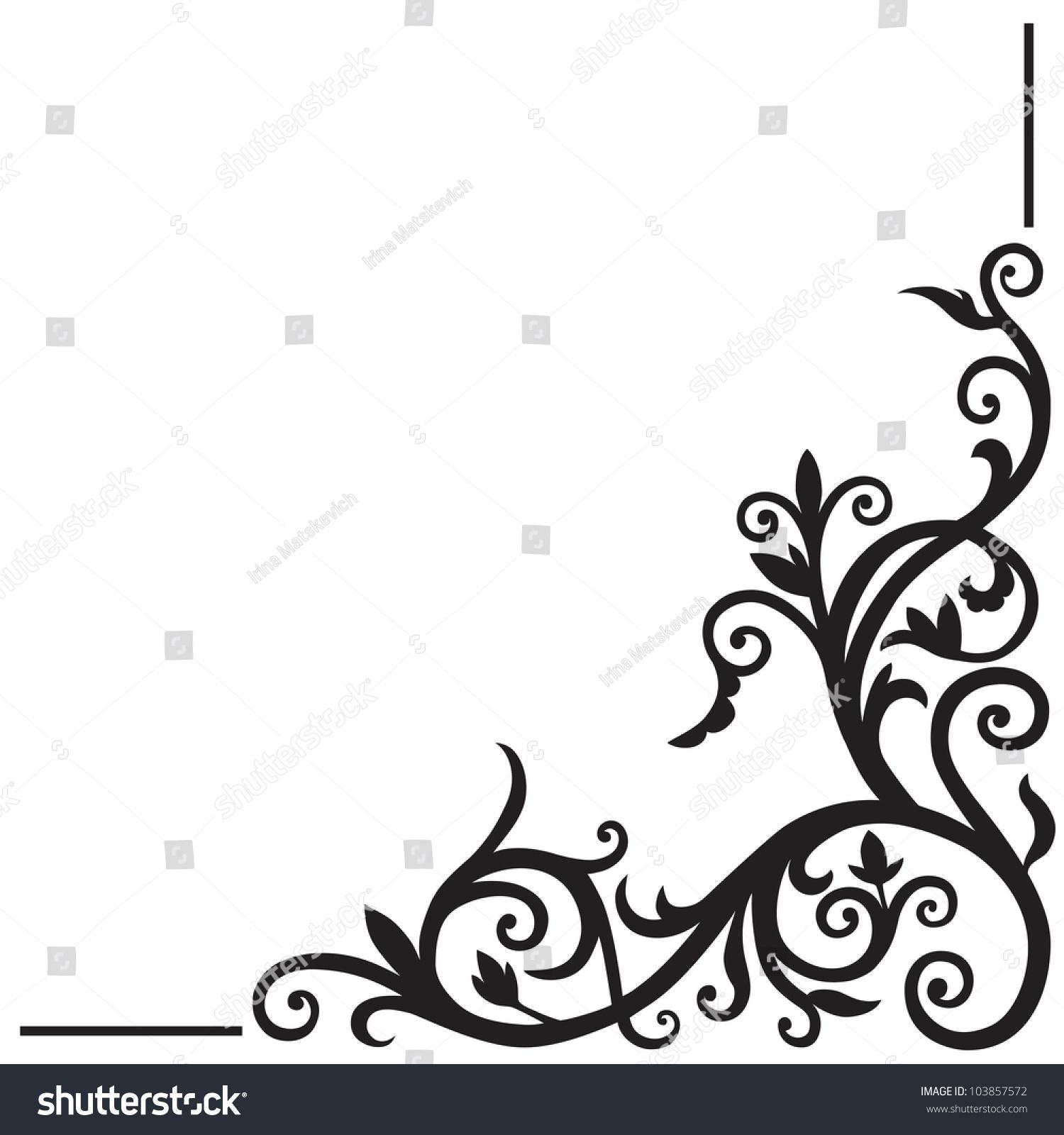 Arabic corner border design