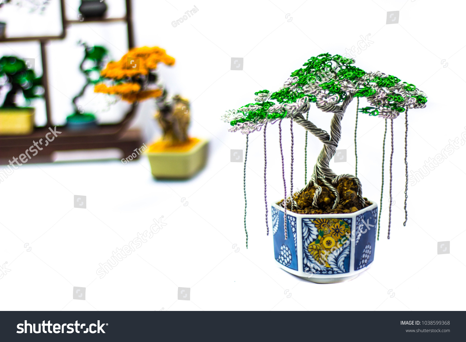 Handmade Invention Bonsai Trees Imitation Nature Stock Photo Edit What Does Wiring A Do The Of Material Is Aluminum