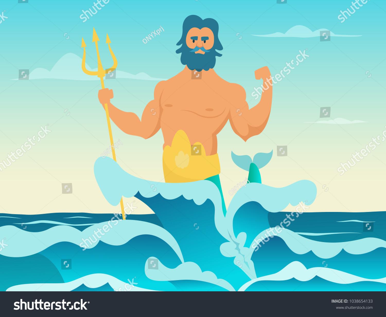 poseidon greek god sea poseidon trident stock vector hd royalty rh shutterstock com