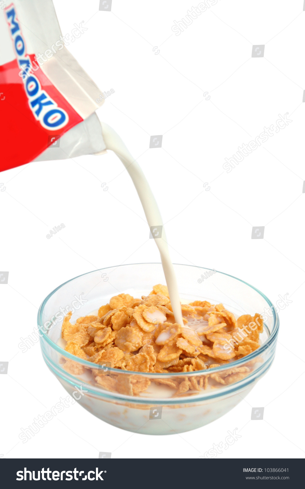 Bowl Of Cornflakes And Milk Bowl Of Cornfla...