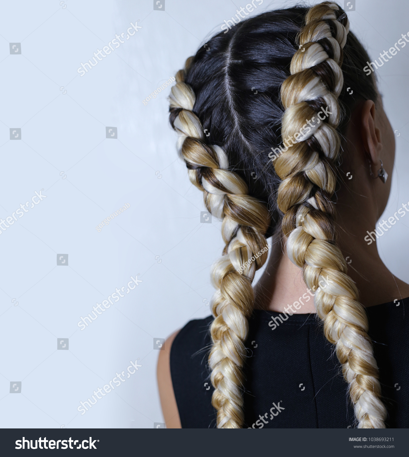 Two Thick Braids Artificial Hair Youth Stock Photo Edit Now 1038693211 So long that you like what you see. https www shutterstock com image photo two thick braids artificial hair youth 1038693211