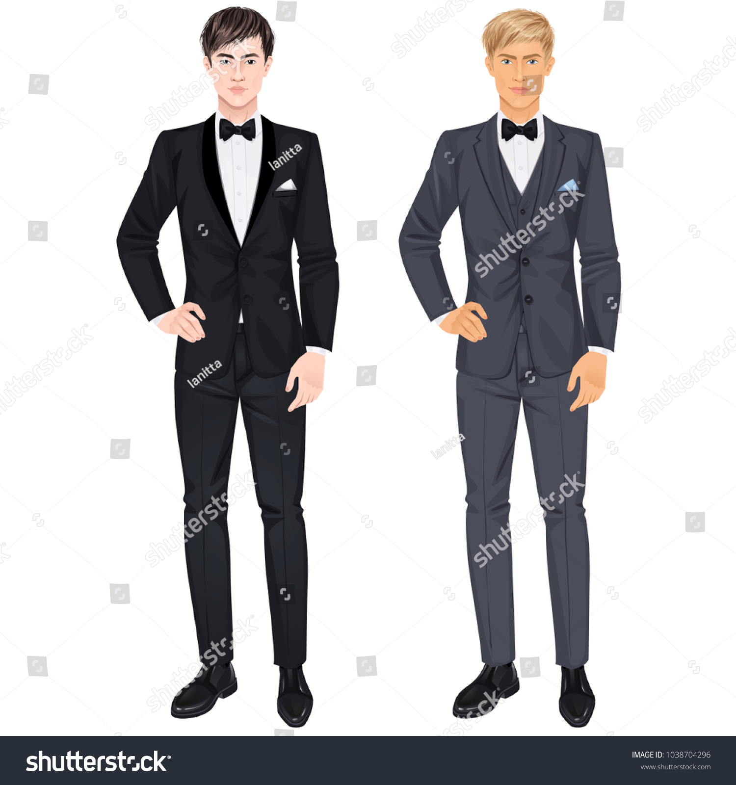 Two Handsome Guys Suits Prom Wedding Stock Photo (Photo, Vector ...