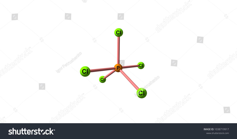 Phosphorus Pentachloride Chemical Compound Formula Pcl5 Stock