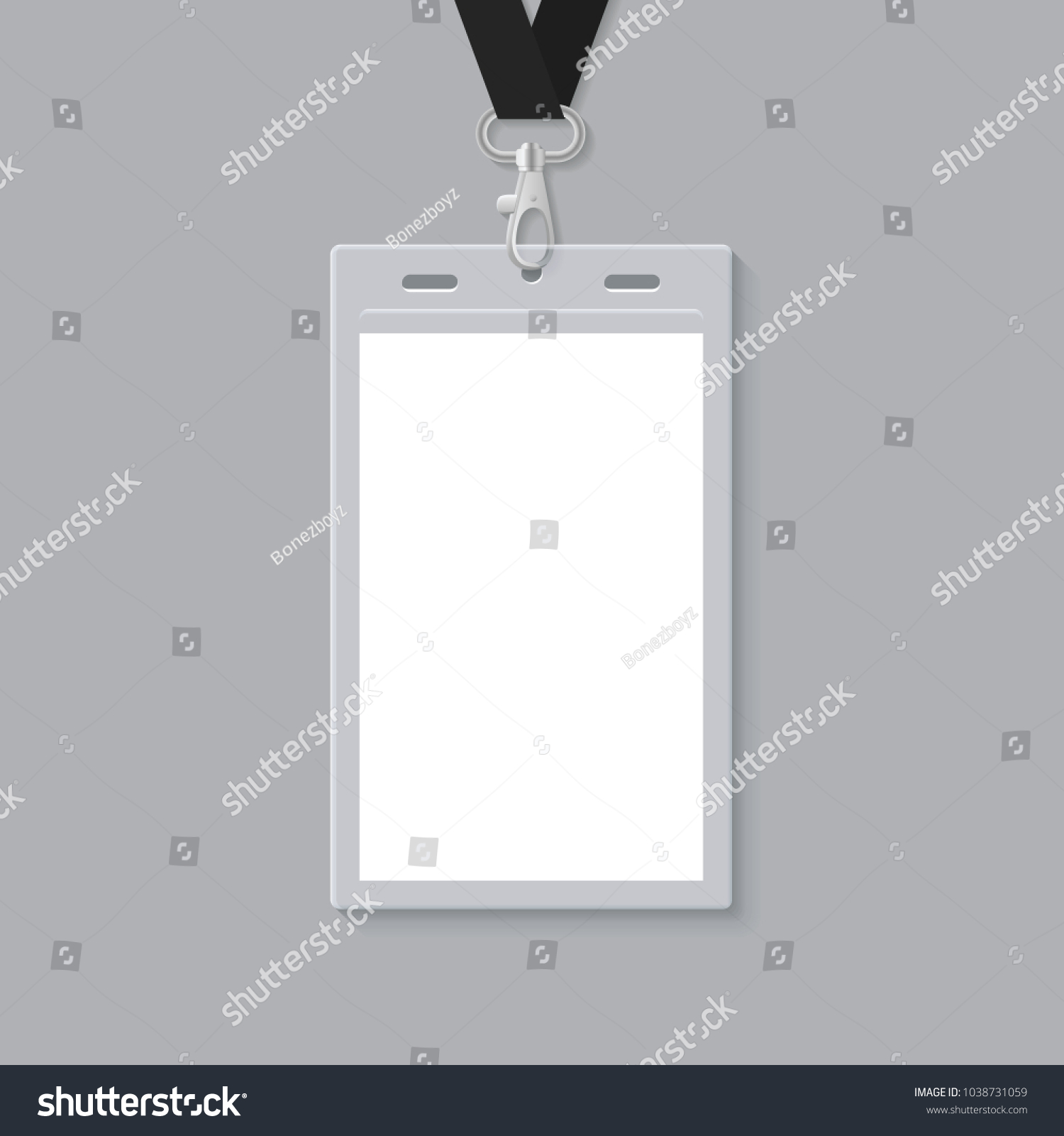 Blank ID Card Template Stock Vector (Royalty Free) 1038731059 ...