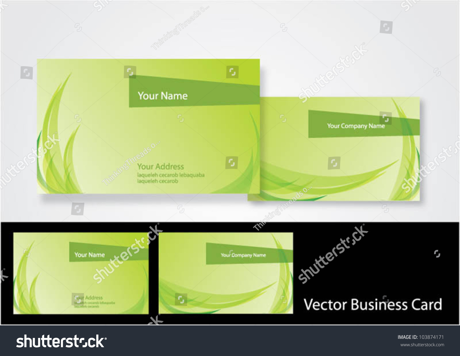 Nature Business Cardvector Illustration Stock Photo (Photo, Vector ...