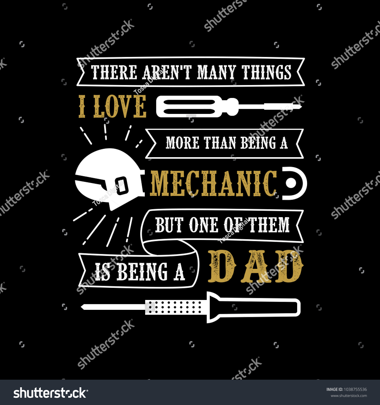 9a681a1e Father's Day Saying & quotes. Mechanic Dad. 100% vector ready for print,  Best for t-shirt, sticker, poster/frame, mug, Pillow, phone & laptop cases.