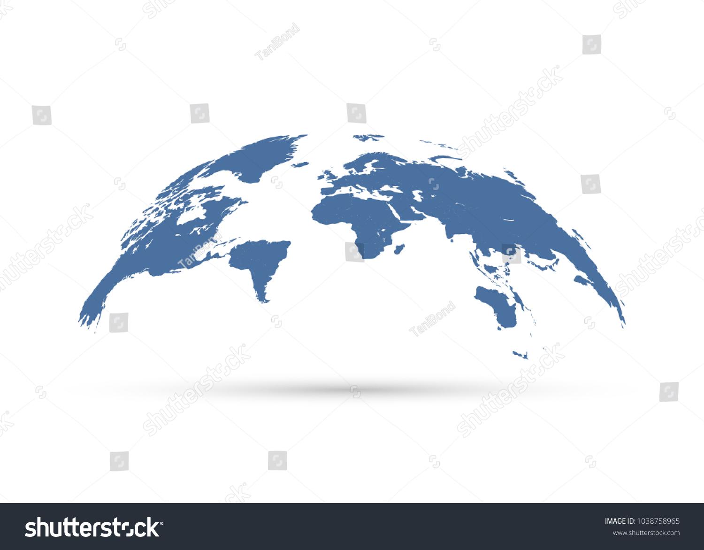 Vector globe world map stock vector royalty free 1038758965 vector globe world map gumiabroncs Image collections