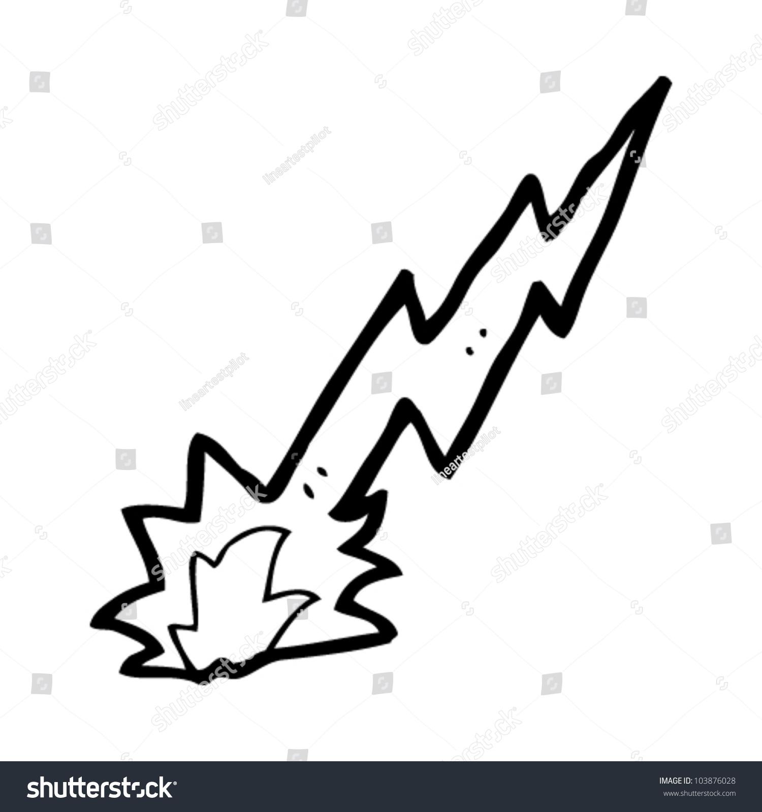 Cartoon Lightning Strike Stock Vector Illustration 103876028 ...