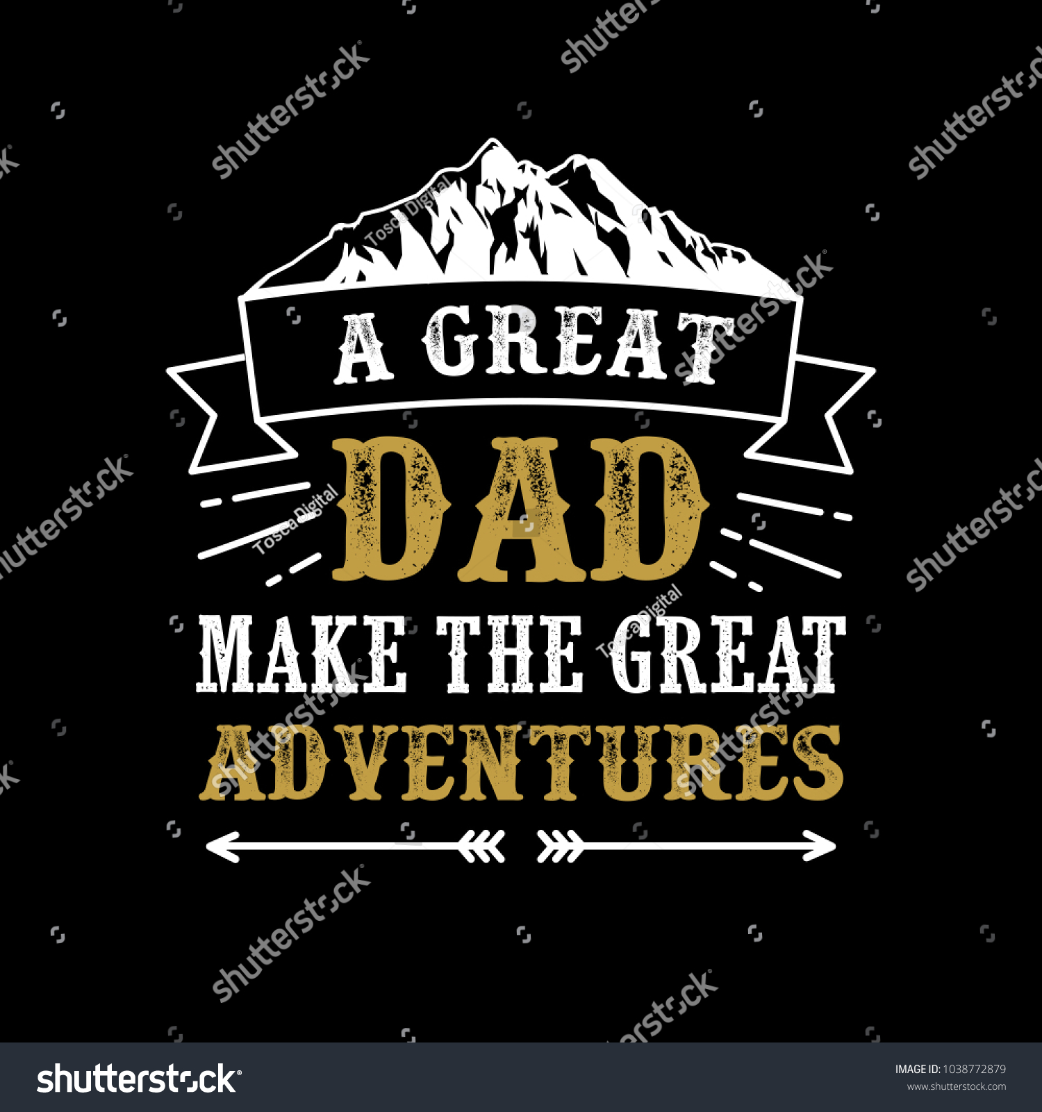 Fathers Day Saying Quotes Great Dad Stock Vector Royalty Free