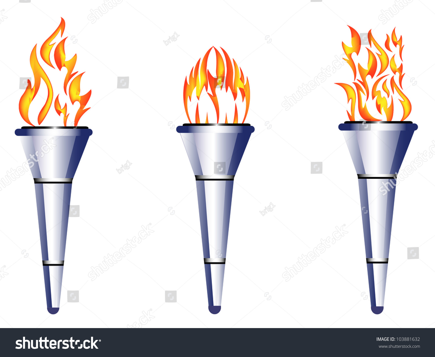 Torch, Flame, Fire Stock Vector Illustration 103881632