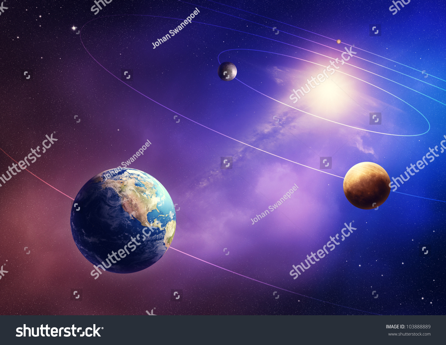 Inner Four Solar System Planets (Elements Of This Image ...