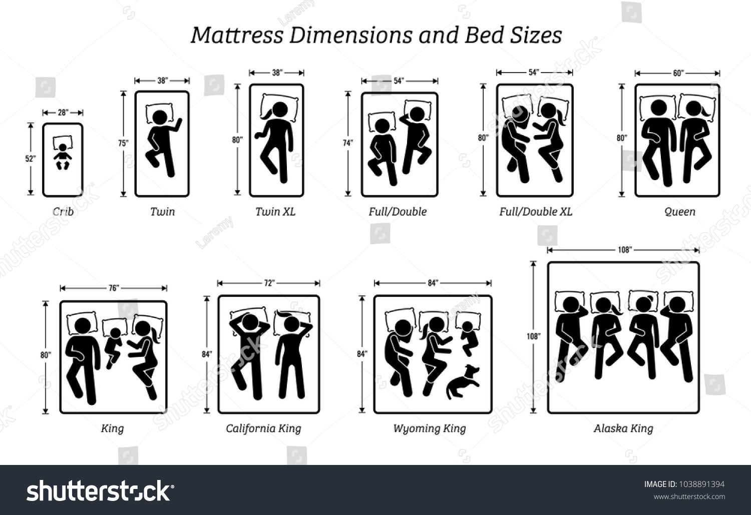 bed sizes dimensions. Mattress Dimensions And Bed Sizes. Pictograms Depict Icons Of People  Sleeping On Different Bed Sizes Dimensions A