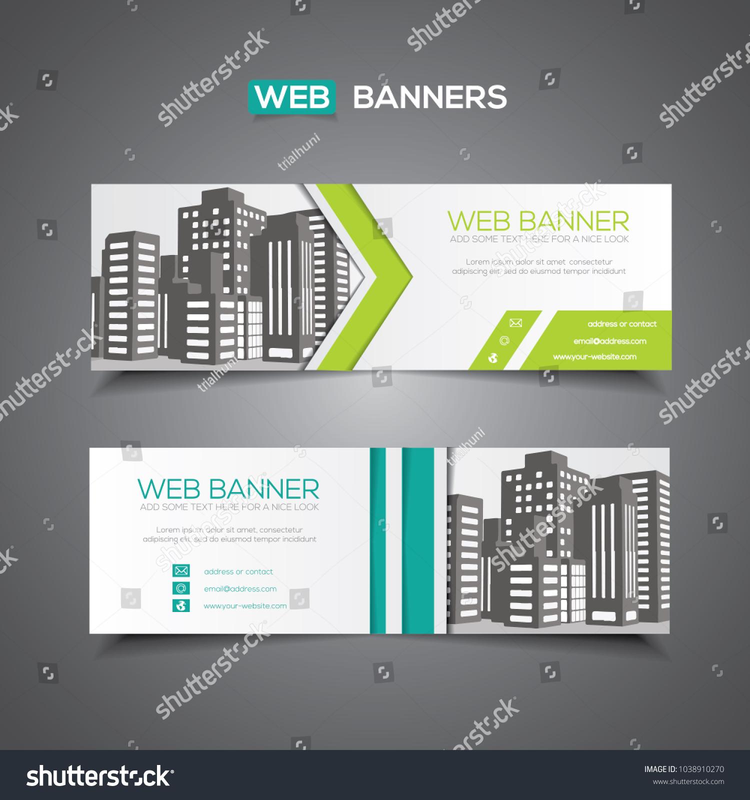 Abstract Vector Banner Web Template Print Stock Vector 1038910270 ...