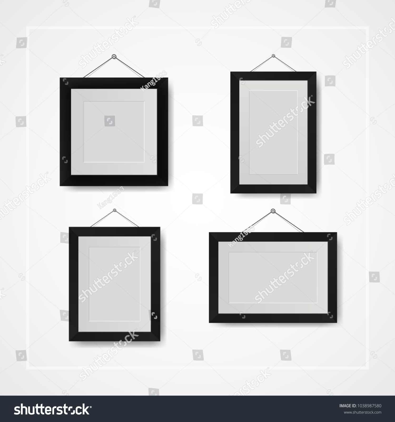 Multiple Many Small Picture Photo Frames Stock Vector (Royalty Free ...