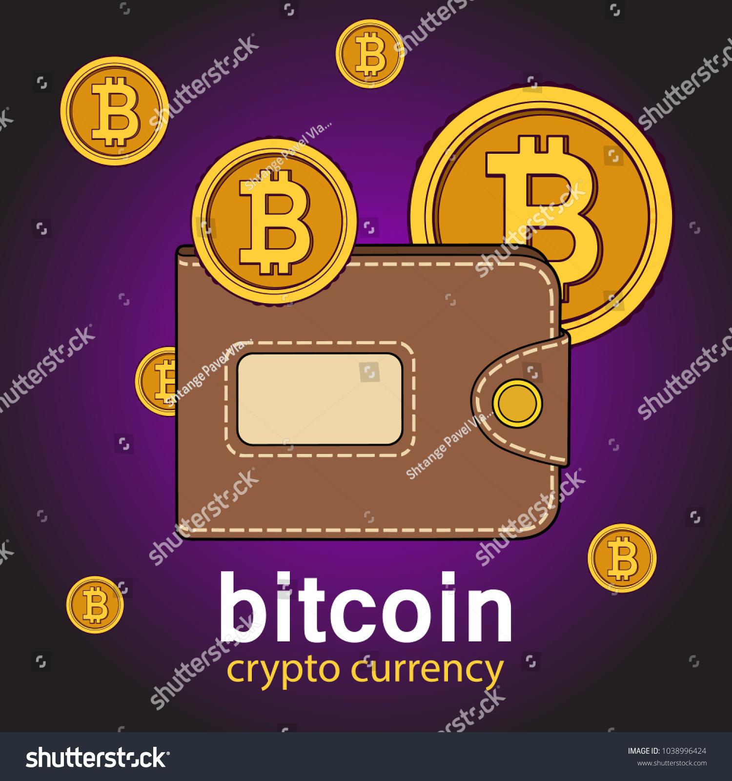 Vector brown bitcoin wallet coins stock vector 1038996424 shutterstock ccuart Choice Image