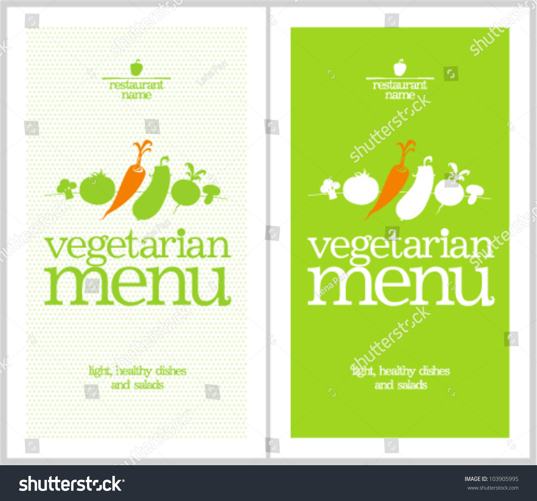 restaurant vegetarian menu cards design template stock