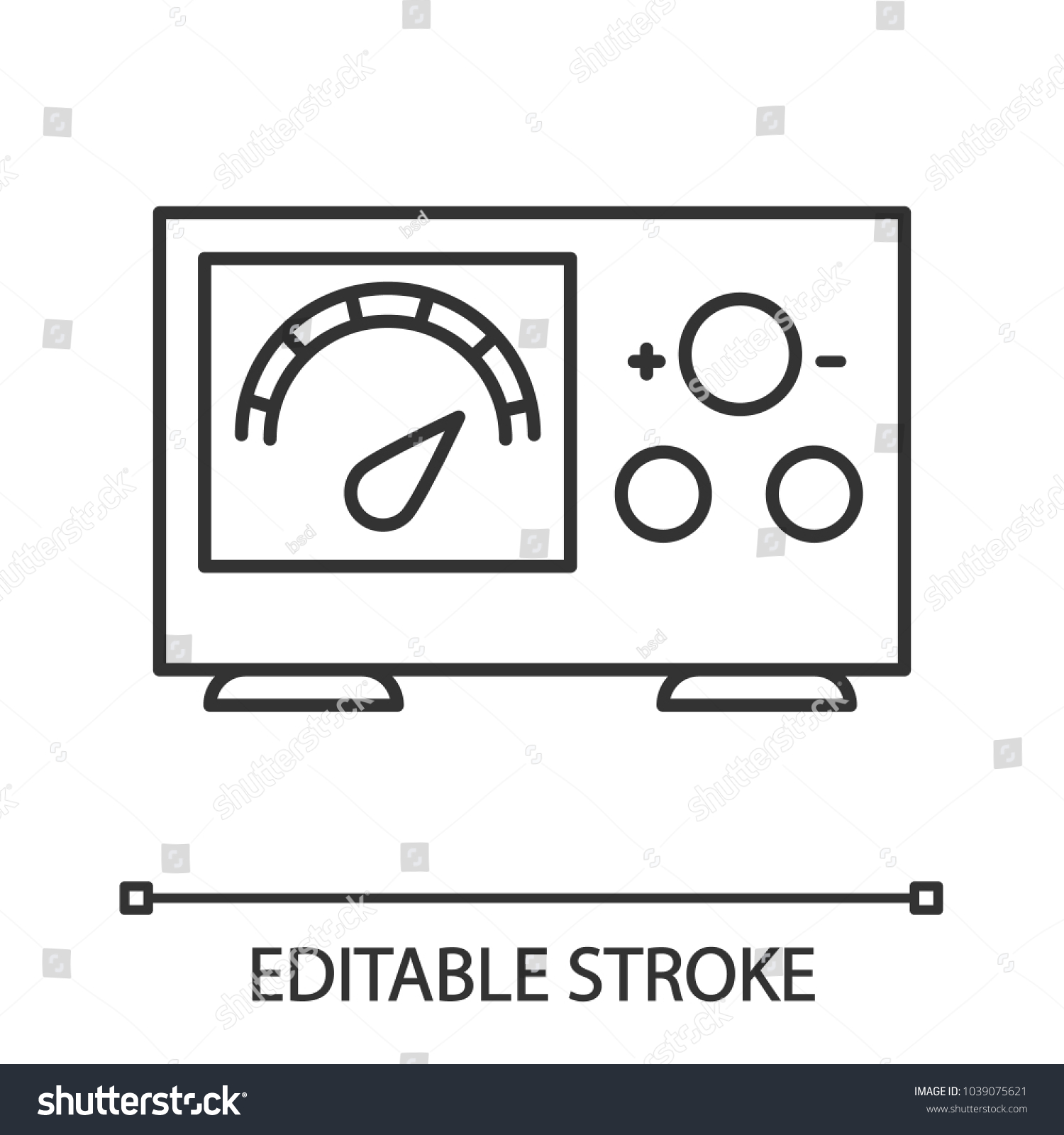 Tattoo Power Supply Voltage Meter Linear Stock Vector 1039075621 ...