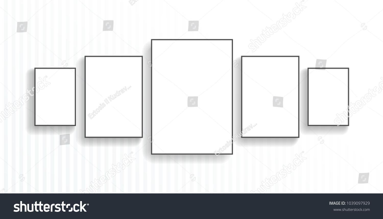 Five Poster Black Frame Mockup On Stock Vector 1039097929 - Shutterstock