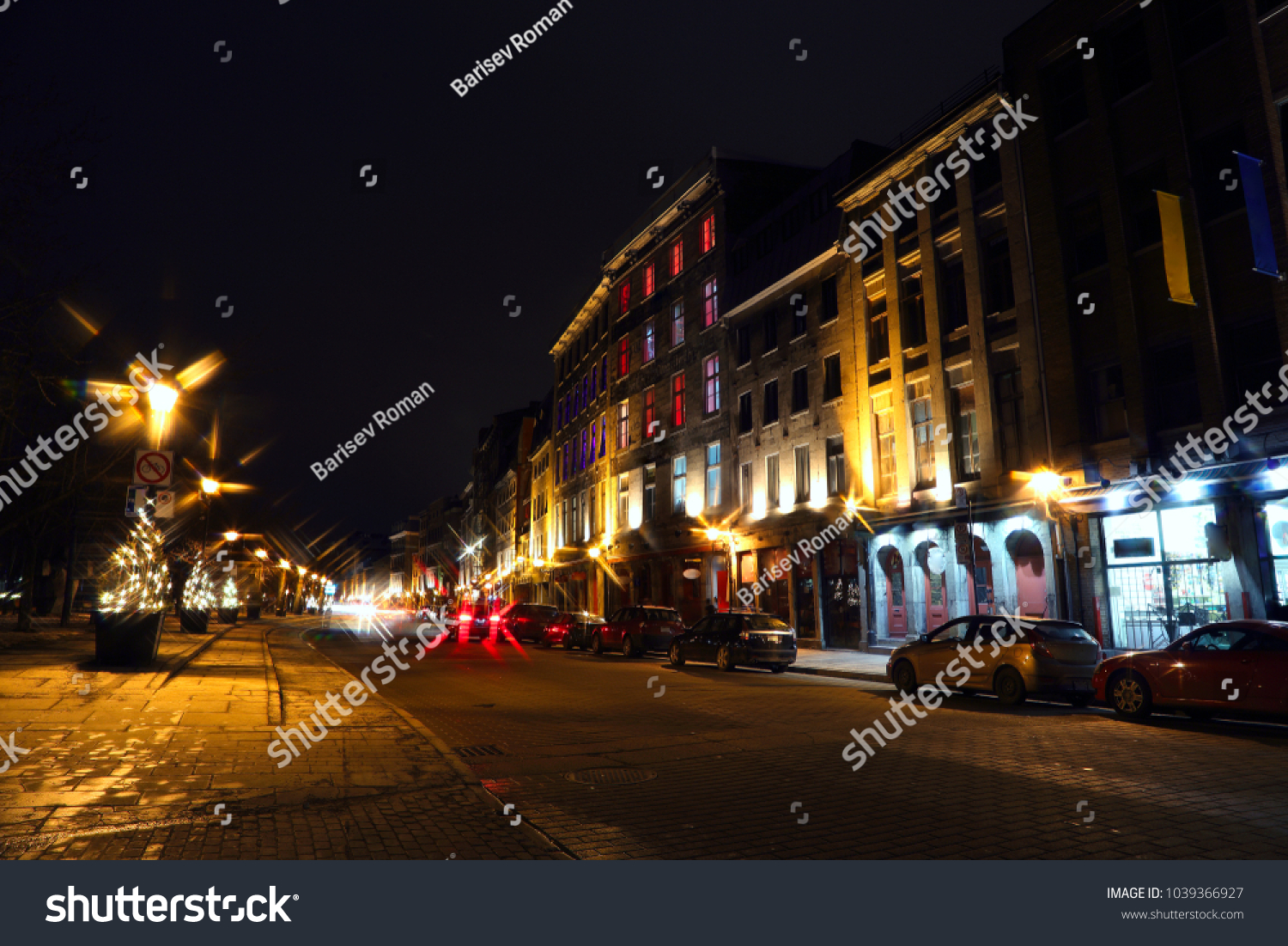 Old Montreal Street View Historical Buildings Stock Photo Edit ...