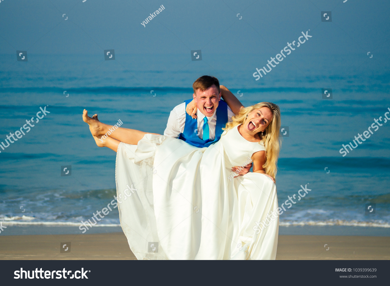 Handsome Groom Chic Suit Holding Beautiful Stock Photo (100% Legal ...