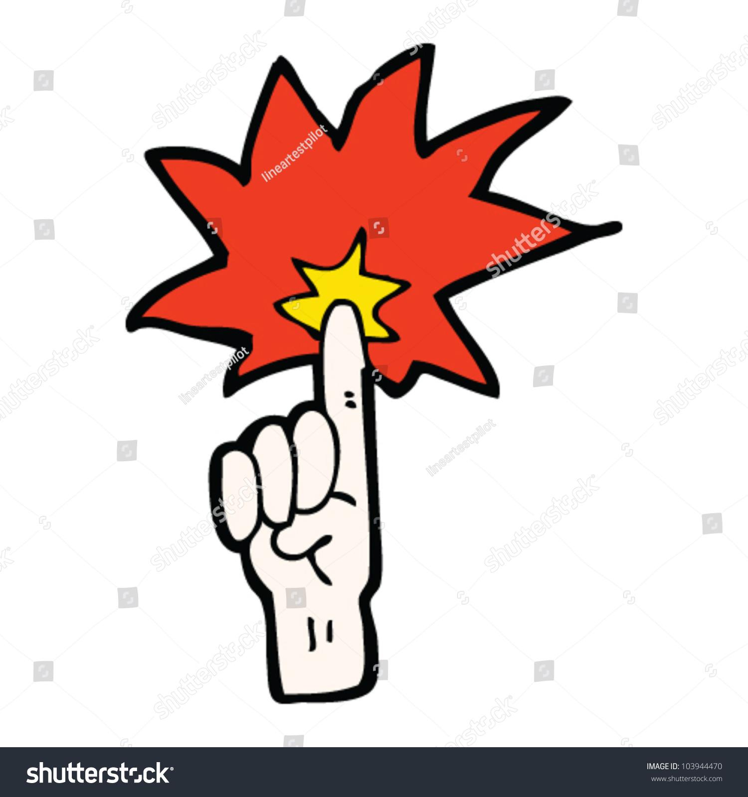 Cartoon Magic Finger Stock Vector 103944470 - Shutterstock
