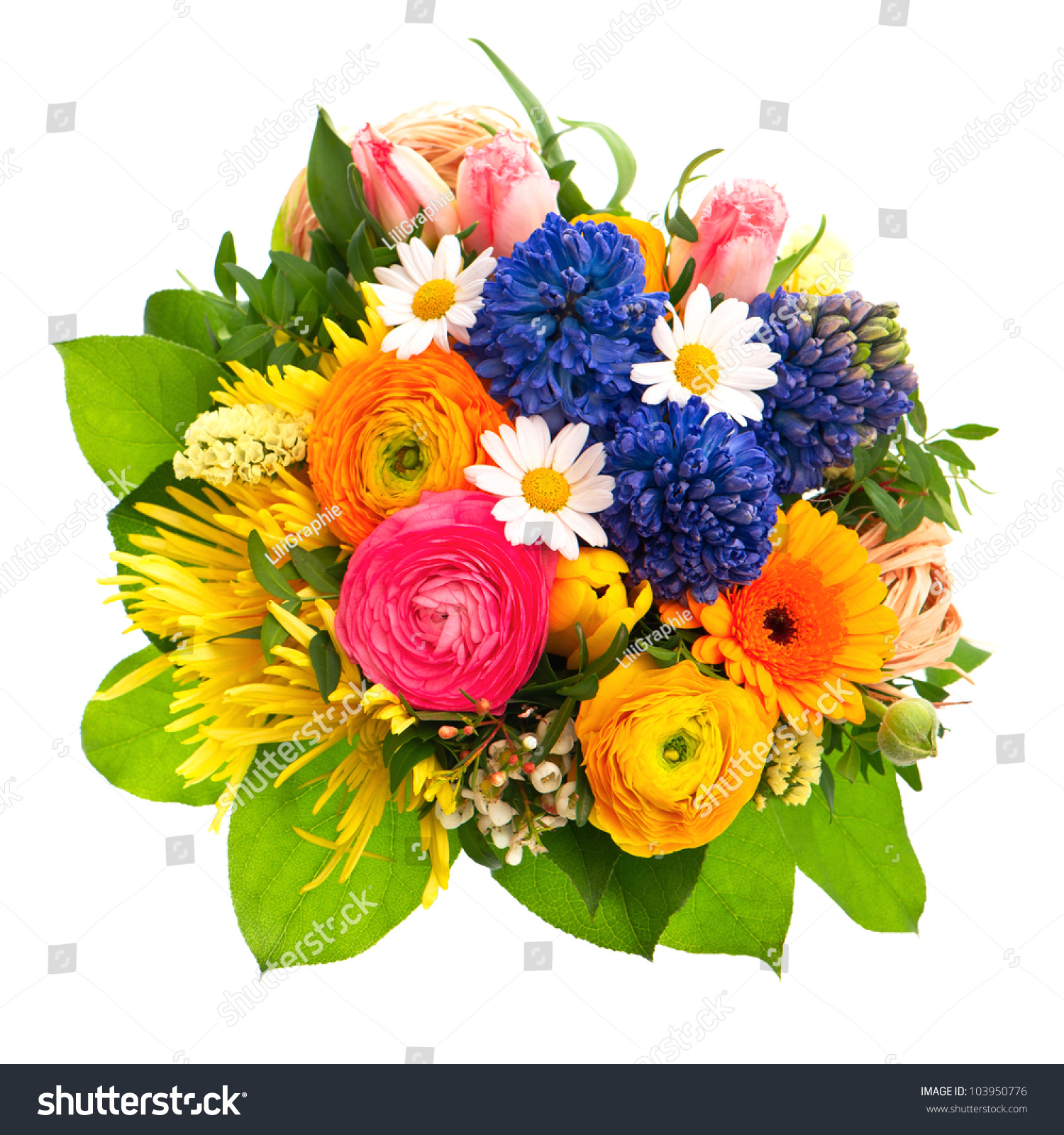 Beautiful Bouquet Colorful Spring Flowers Tulip Stock Photo Edit Now 103950776
