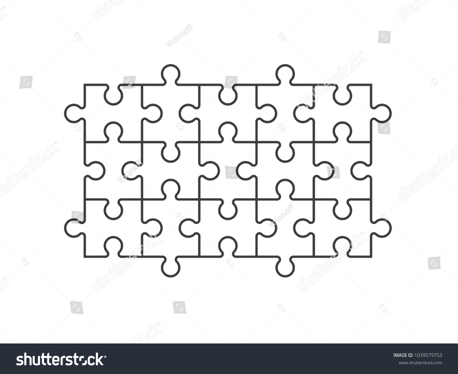 A Lot Of Piece Flat Puzzle Pattern Presentation Many Step Puzzles