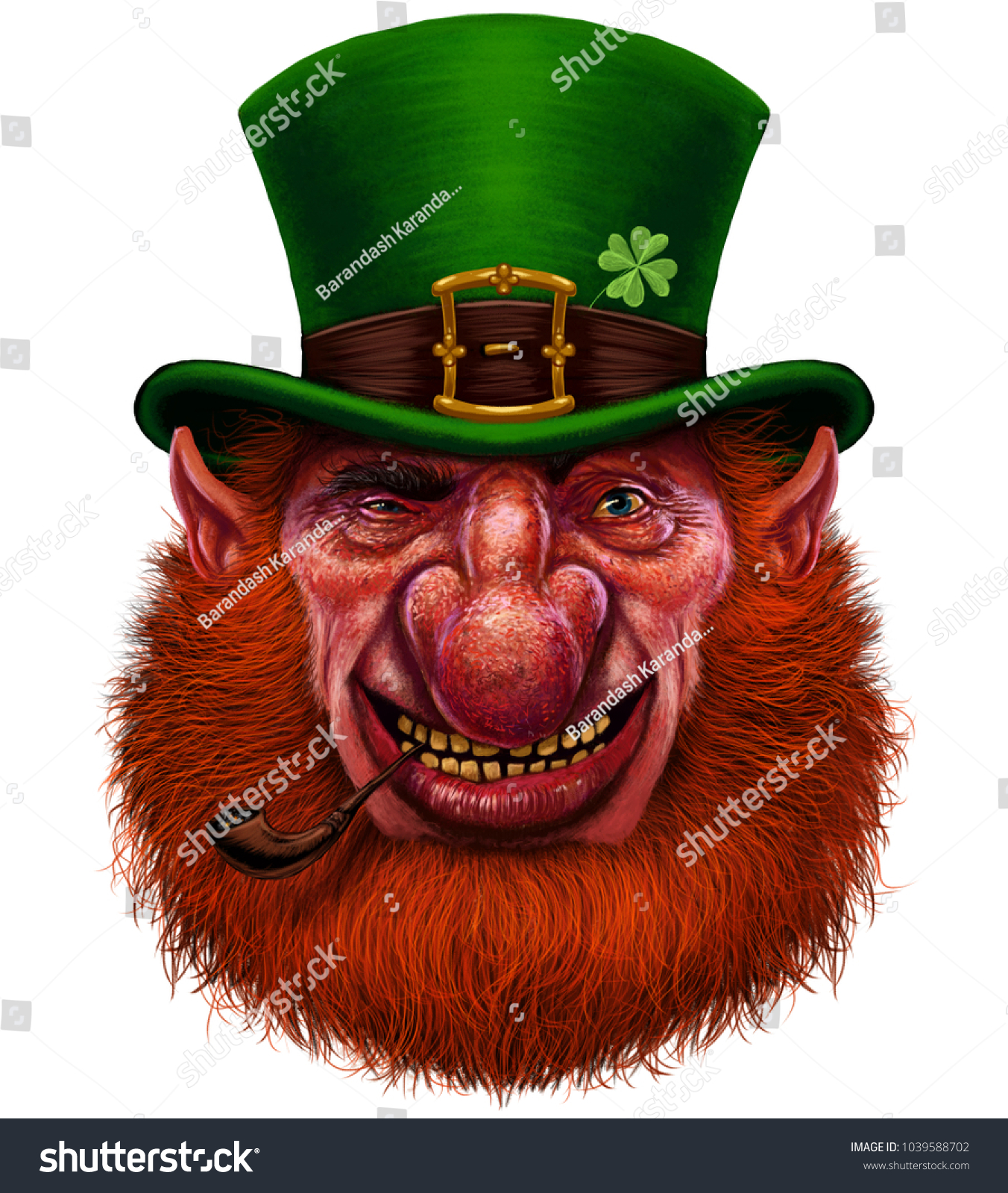 Leprechaun St Patricks Day Irish Holiday Stockillustration ...
